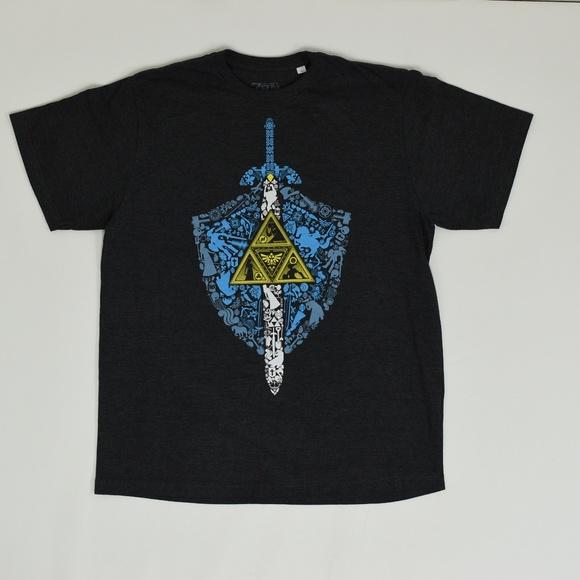 Zelda Other - Zelda Big & Tall 1X Gray   Casual Tee Cotton Blend